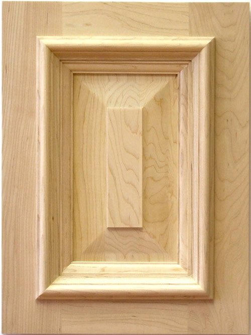 Hickling cabinet door with applied moulding in maple