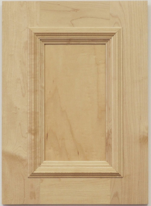 Fleming cabinet door with applied moulding in maple