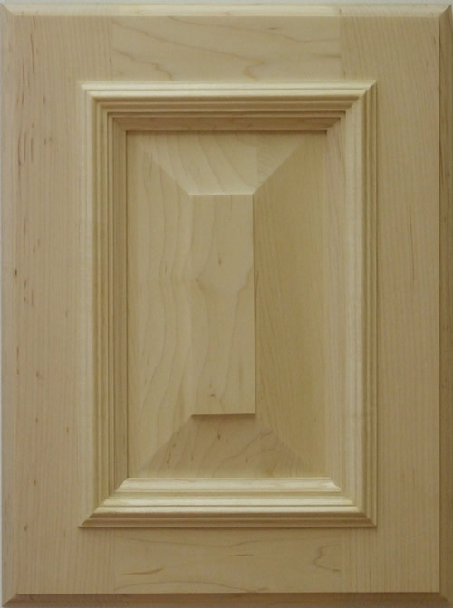 Belvadere cabinet door with applied moulding in maple