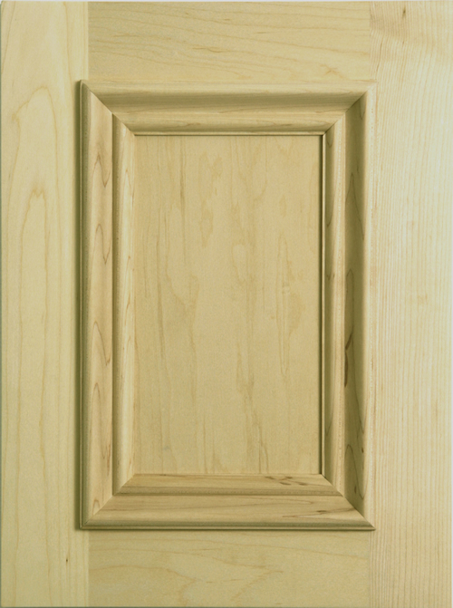 Rena cabinet door with applied moulding in maple