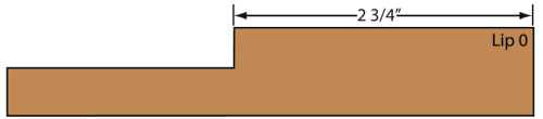 cross section of Glencairn MDF one piece routed cabinet door